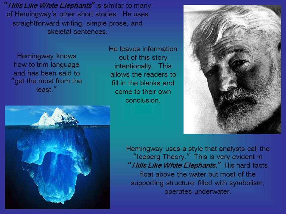 "themes motifs and symbolism in ""hills like white elephants  28 ""hills like white elephants"""