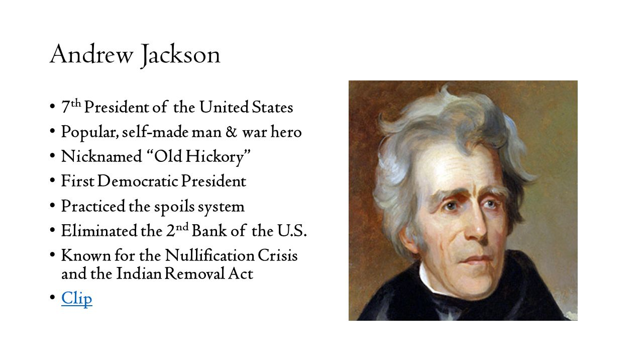 an analysis of the democracy by andrew jackson 7th president of the united states Jackson, andrew, 1767–1845, 7th president of the united states (1829–37), b waxhaw settlement on the border of south carolina and north carolina (both states claim him).
