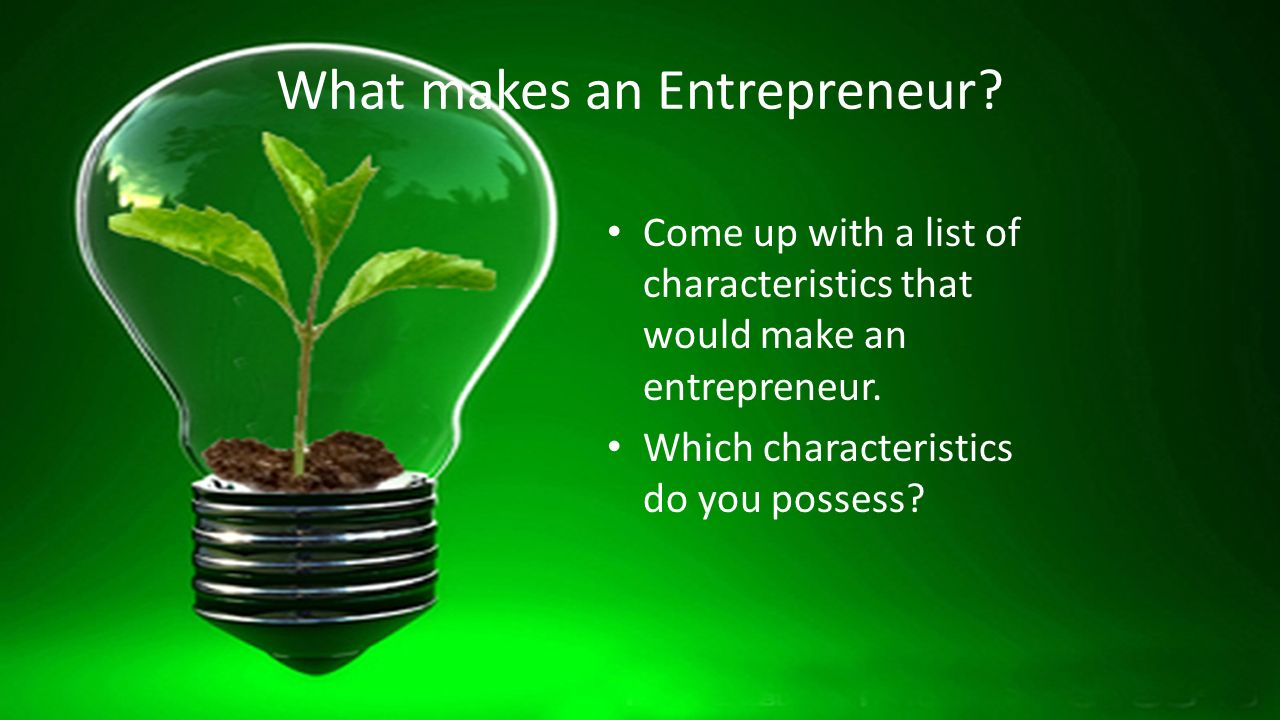 what makes someone a successful entrepreneur A free business guide on what makes an entrepreneur from smarta, the small business support and advice network successful entrepreneurs and business owners come in absolutely all shapes and sizes: aged between 9 and 109 but some very successful business people are painfully shy.
