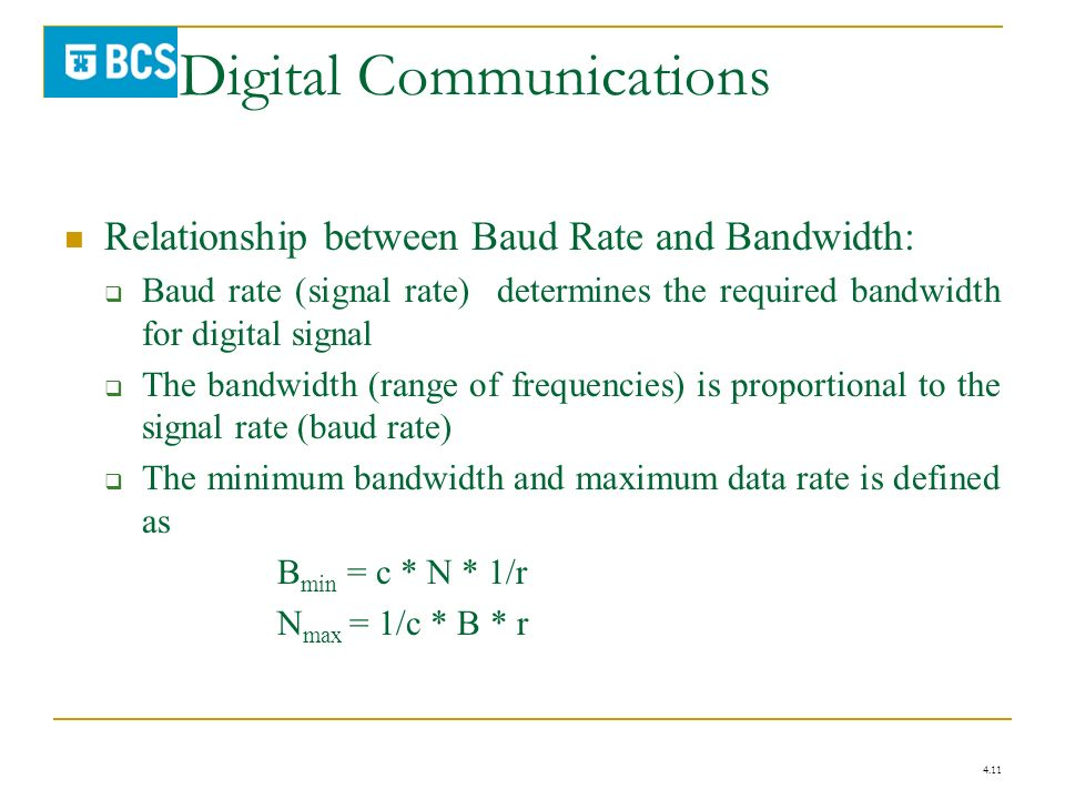 data rate and bandwidth relationship advice