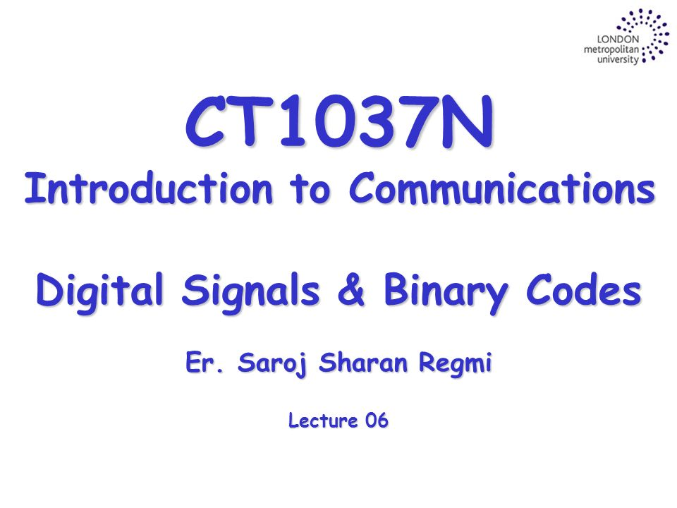 Introduction to binary signals used in system identification