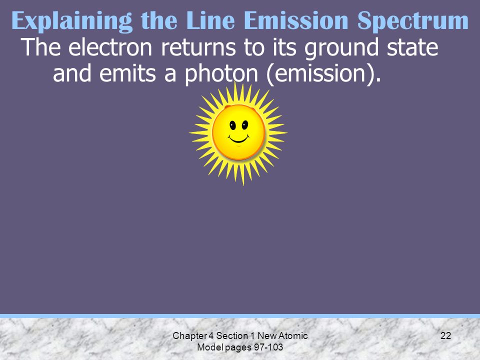 Explaining the Line Emission Spectrum