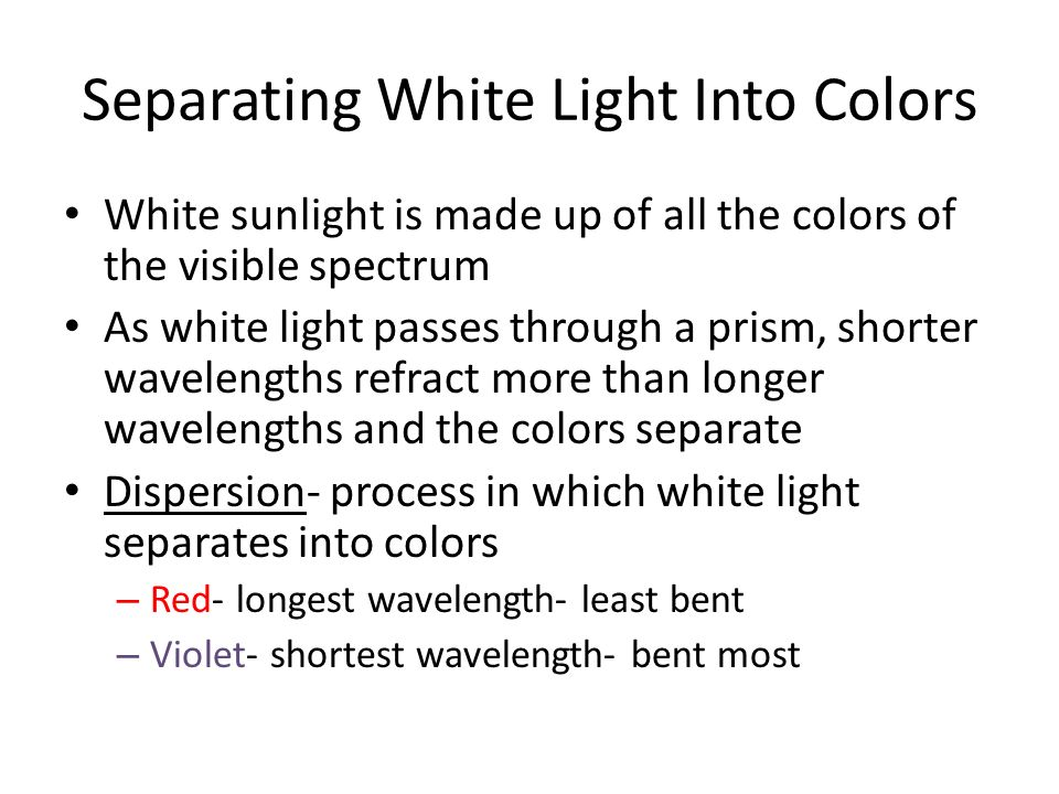 Separating White Light Into Colors