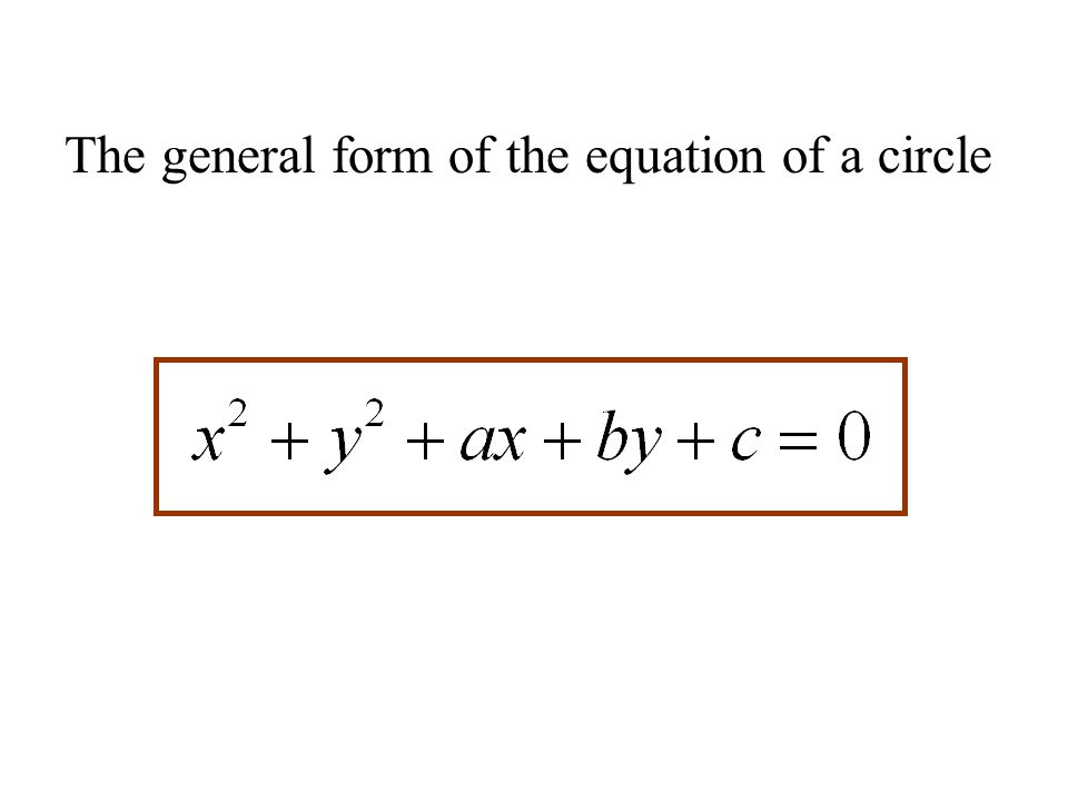 how to find unknown radius of a circle equation