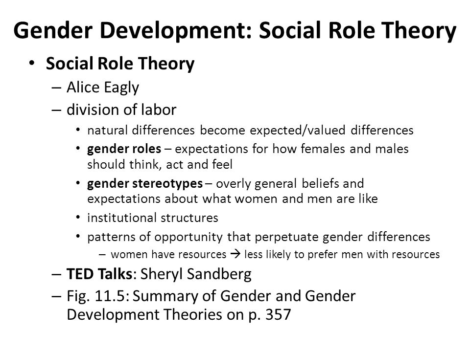 theoretical overview of gender socialization Program overview all undergraduate  of the study of human development based on relevant theoretical approaches used  gender development sexual identity.