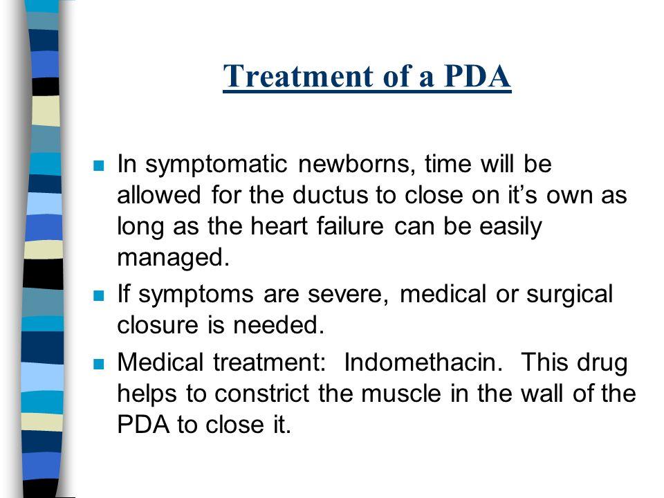 Indocin For Pda Closure