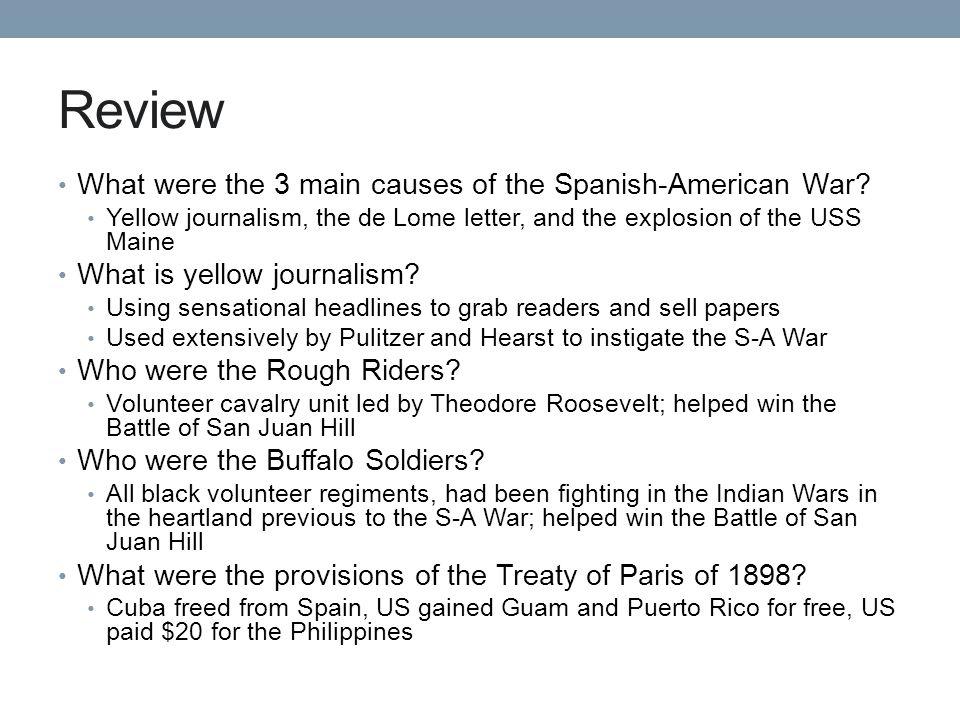 causes of the spanish american war essay Causes of the spanish american war causes of the spanish american war need essay sample on causes of the spanish.