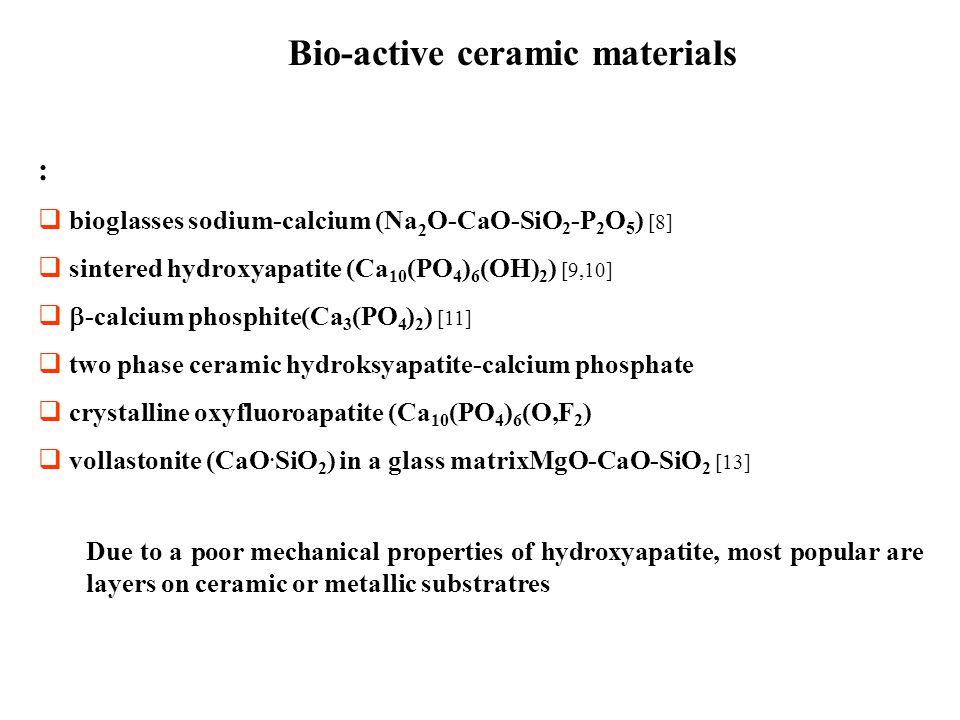 Bio-active ceramic materials