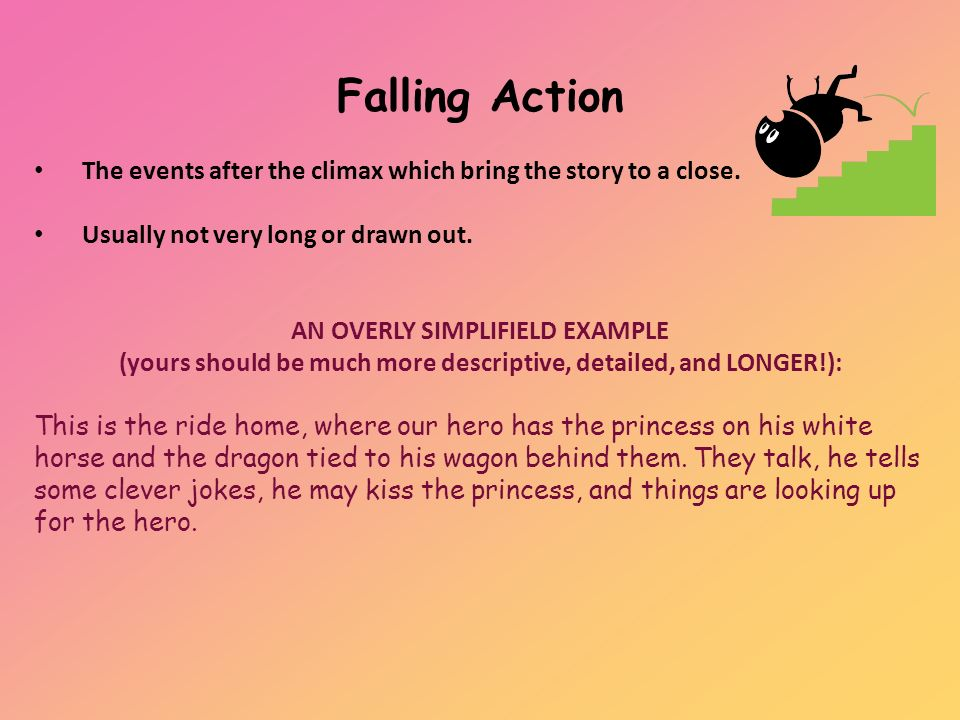 how to write falling action
