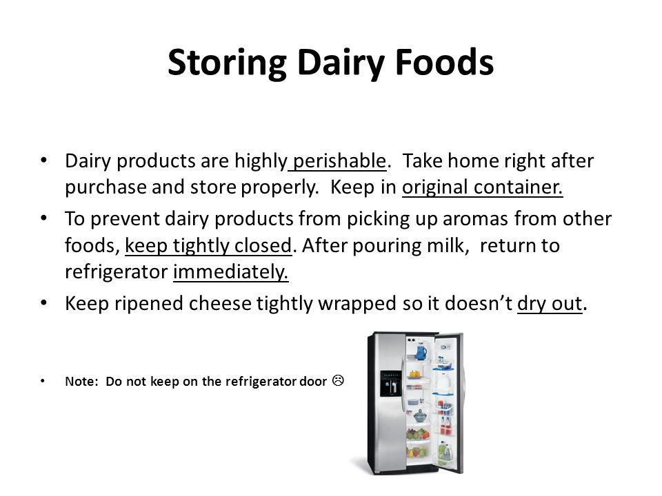 Part I Objective Explain The Value Of Dairy Products In