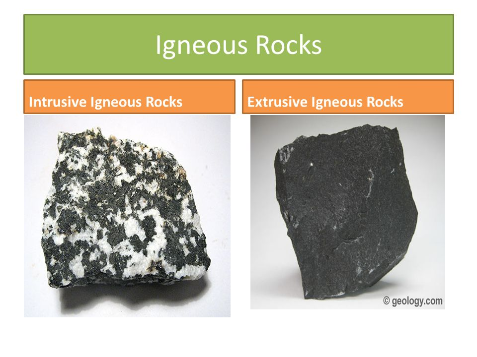 intrusive rocks Photographs and descriptions of intrusive and extrusive igneous rocks with links to detailed articles by geologycom.
