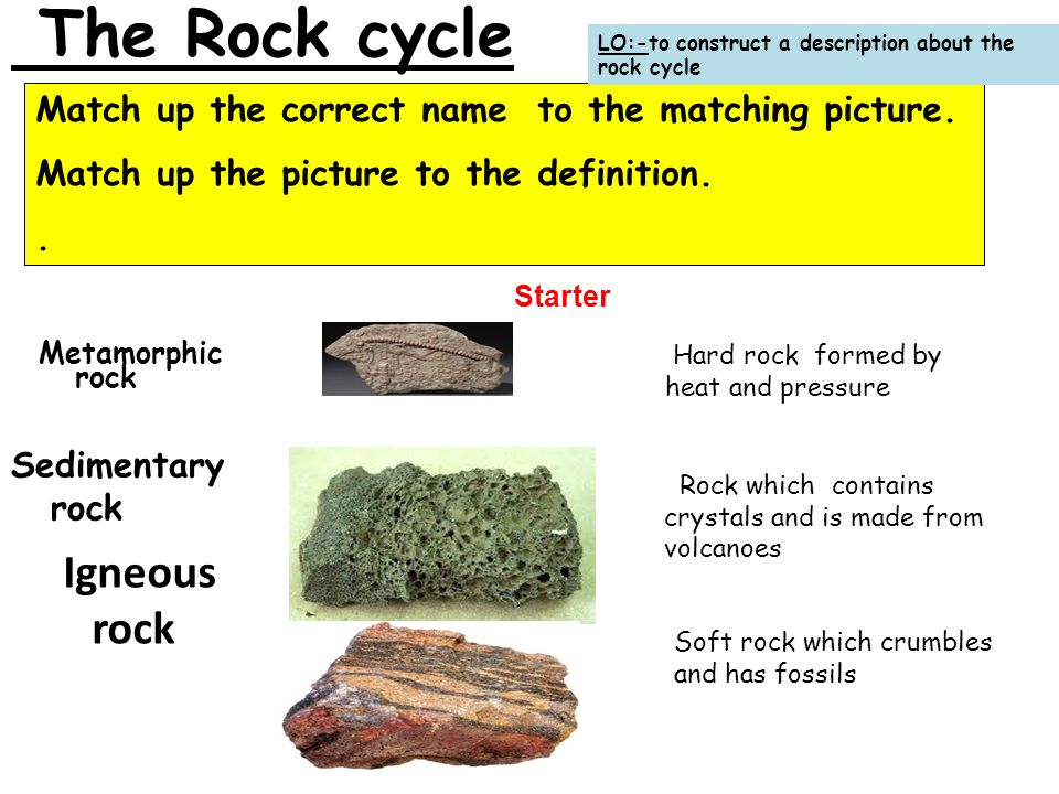 The Rock cycle Igneous rock - ppt download