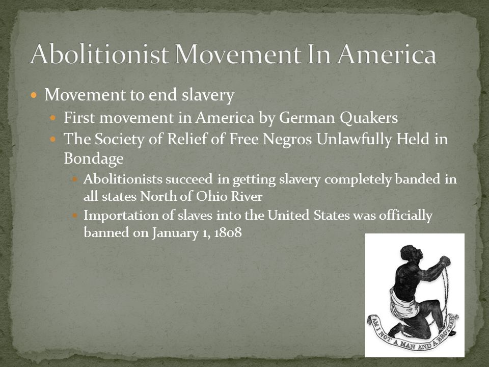 abolitionist movement in america essay An essay on slavery and abolitionism, in reference to the duty of american   and particularly in the antislavery movement, was totally wrong for women.