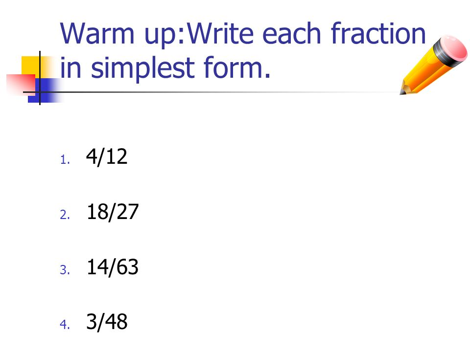 how to write a ratio in simplest form