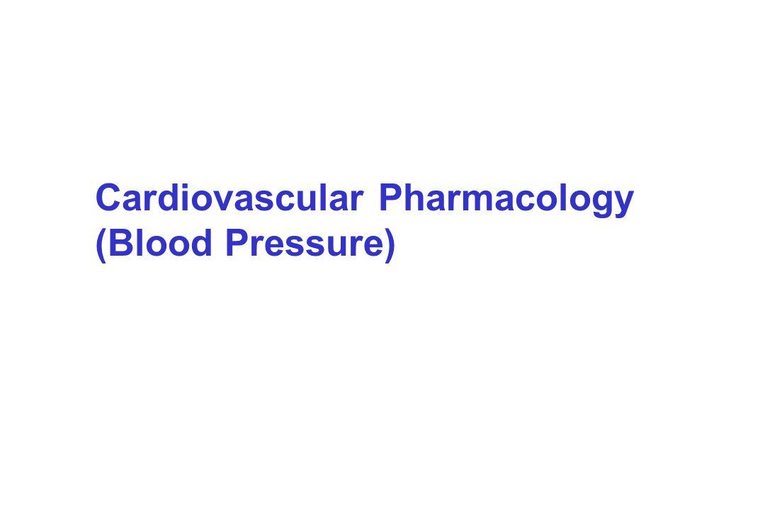 Cardiovascular Pharmacology