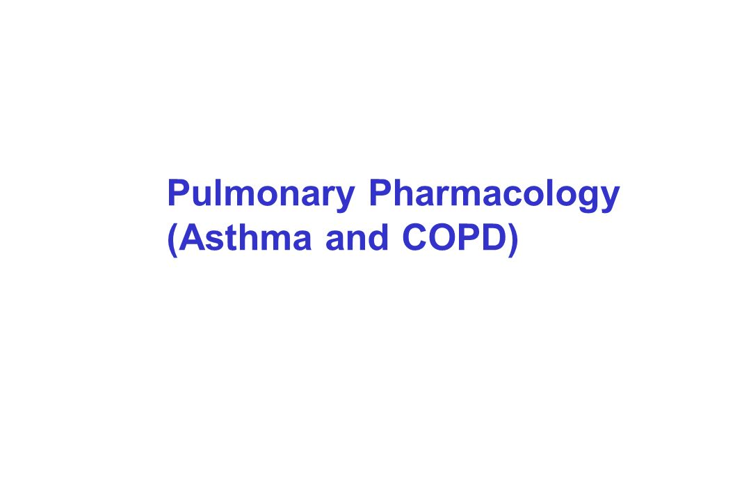 Pulmonary Pharmacology