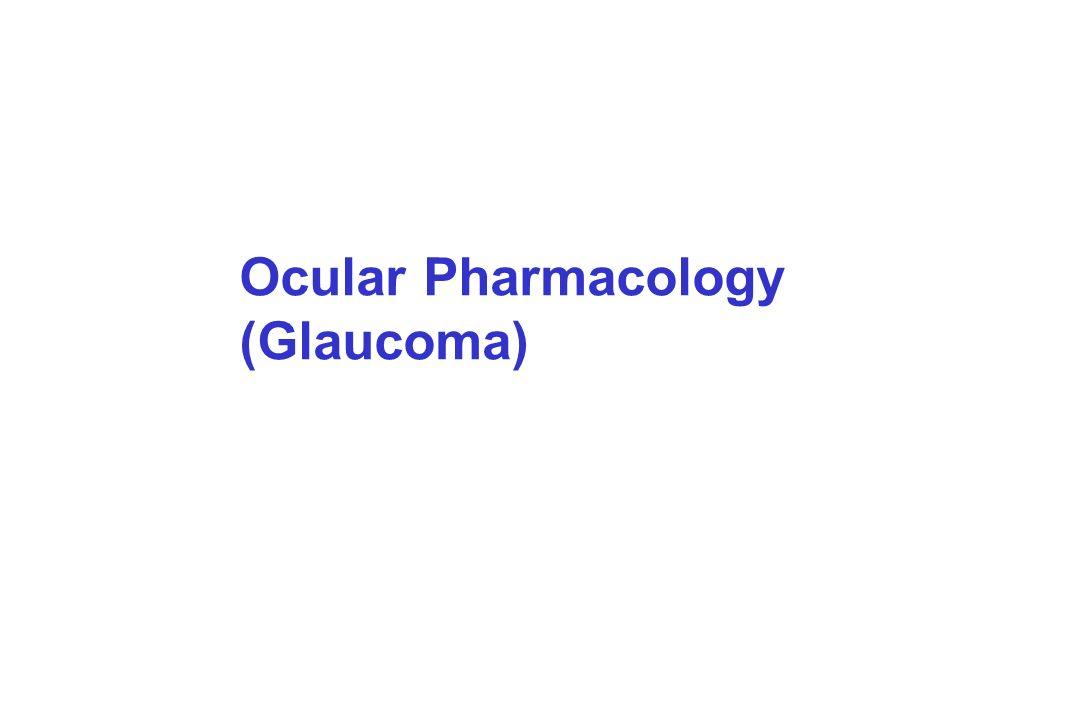 Ocular Pharmacology (Glaucoma)