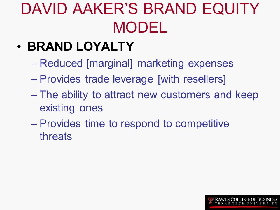 the aaker model of brand equity marketing essay The model was drawn on brand equity concepts developed by aaker and  brand is defined by the american marketing  brand equity evolution: a system dynamics model.