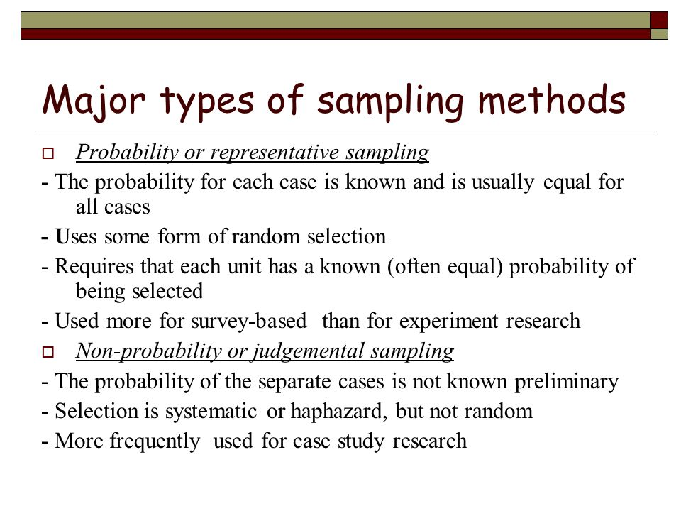 random sampling method essay Sampling methods essay 2036 words | 9 pages sampling is the framework on which any form of research is carried out a suitable sample that meets the inclusion and exclusion criteria of a research design must be chosen from a given population to carry out studies.