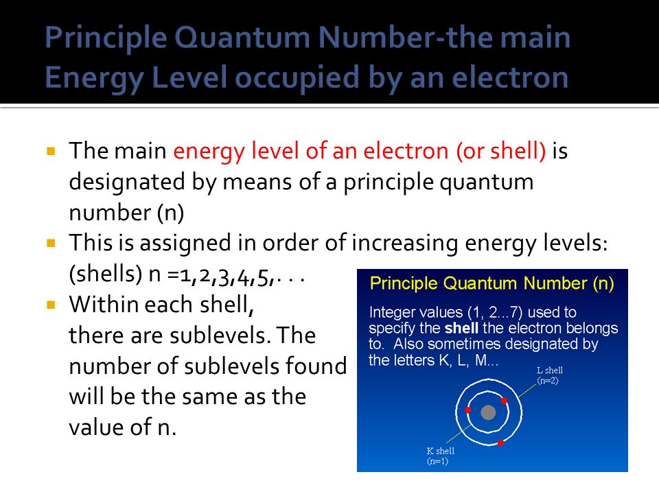 how to find the number of energy levels