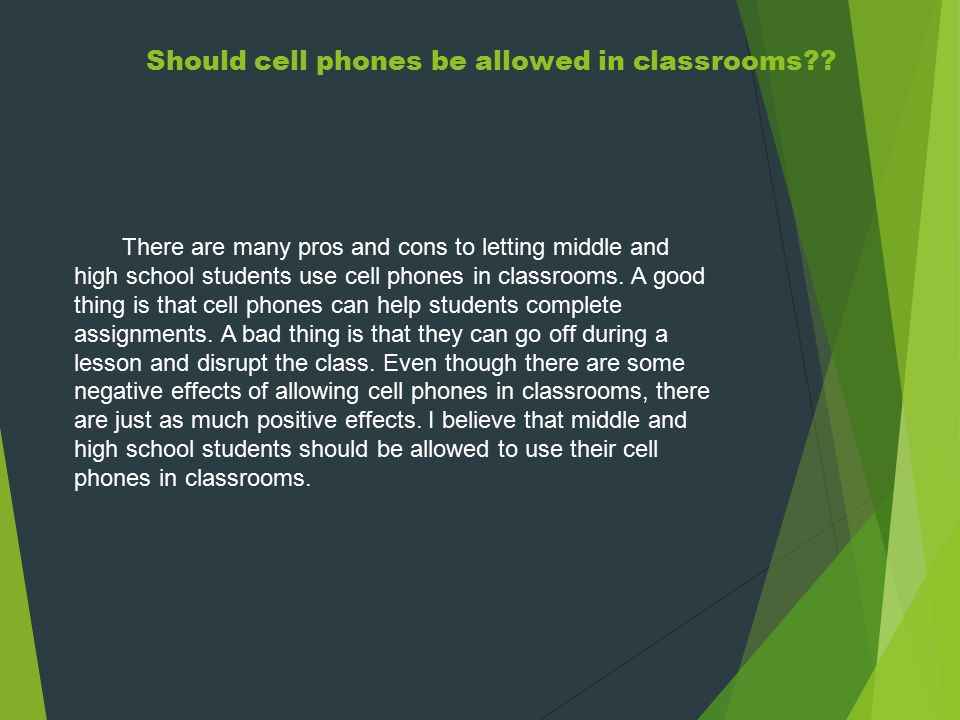 essay on how cell phones affect students