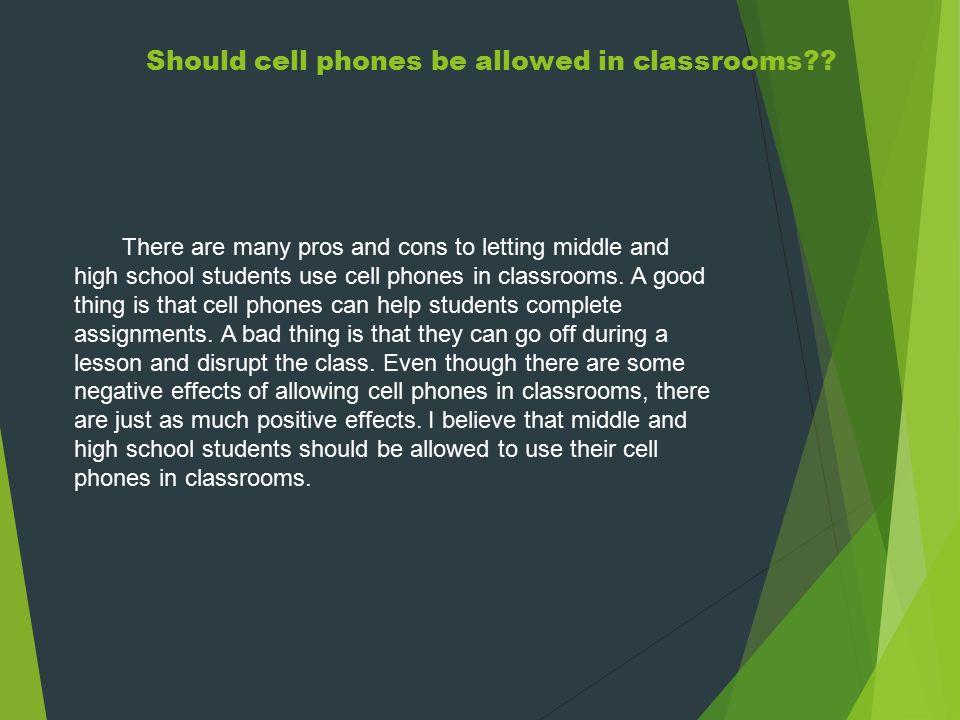 using cell phones in school essay