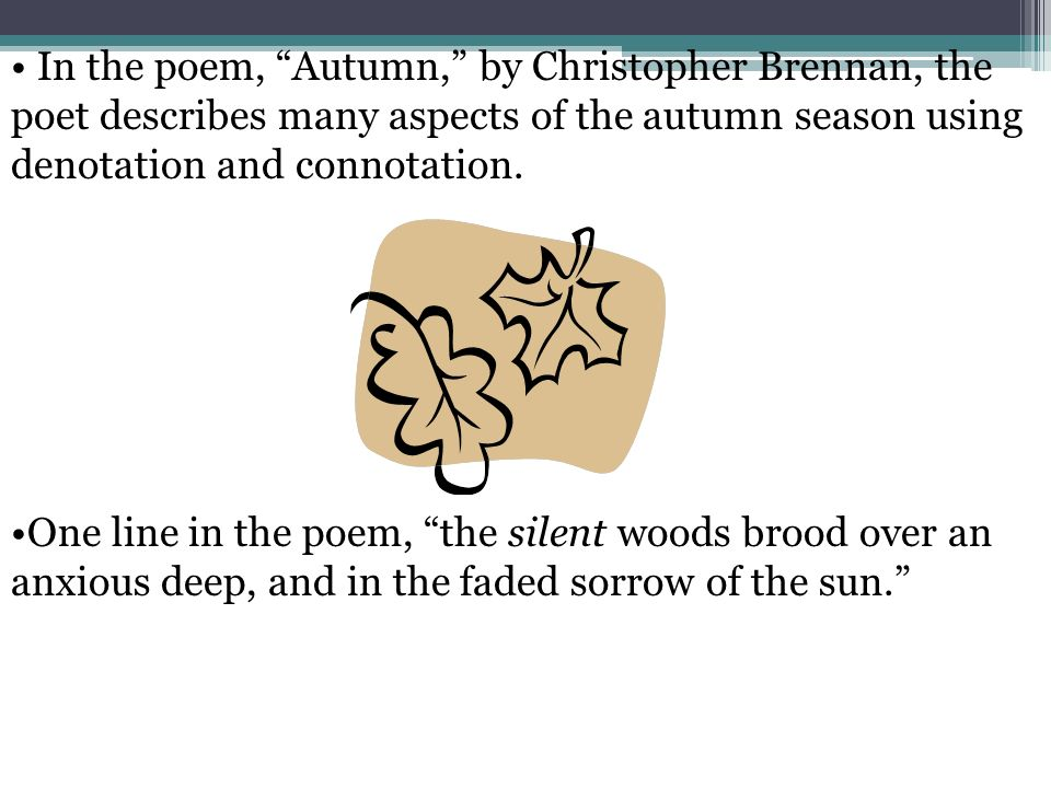 meaning of the to autumn poem Autumn alan bold analysis unseen poetry exam questions themes atmosphere/mood.