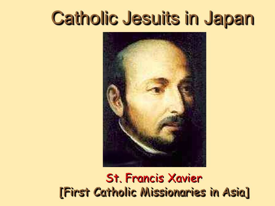 a view of the christian era in japan by saint francis xavier View of the spire of st francis xavier memorial  christianity entered japan in the mid 1500s and  when the religion was banned in the early edo period,.