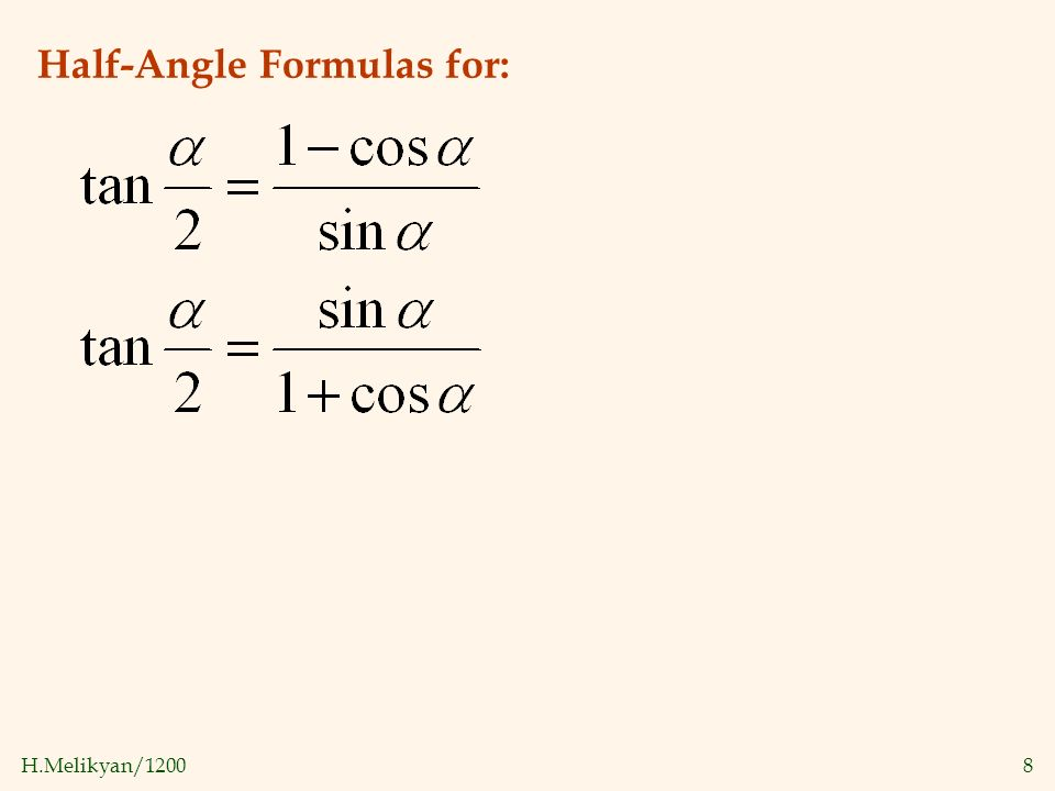 double angle identities examples pdf