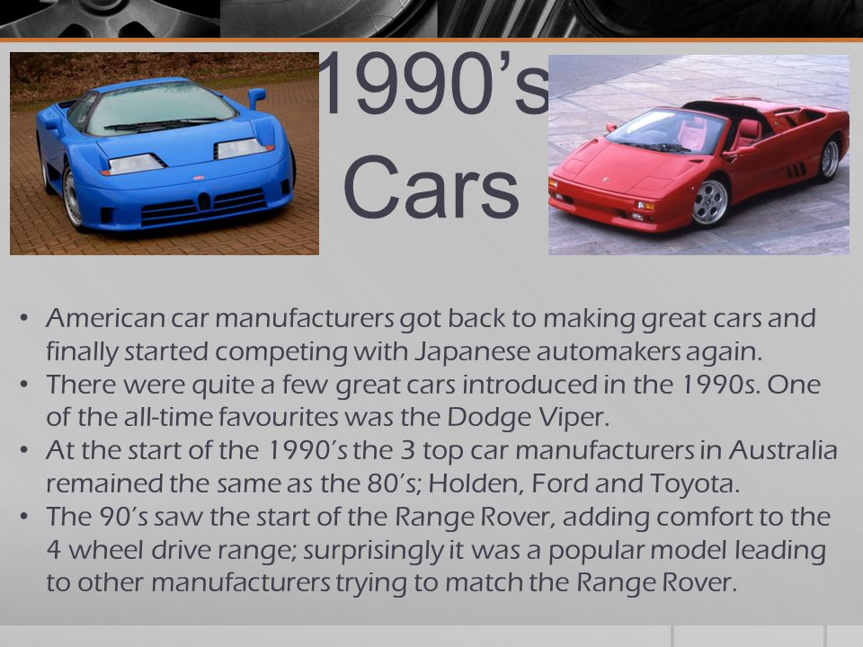 1990u0027s Cars American Car Manufacturers Got Back To Making Great Cars And  Finally Started Competing With