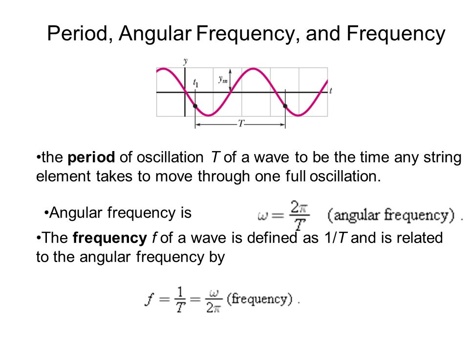Angular Frequency Formula Chapter 16. Wav...