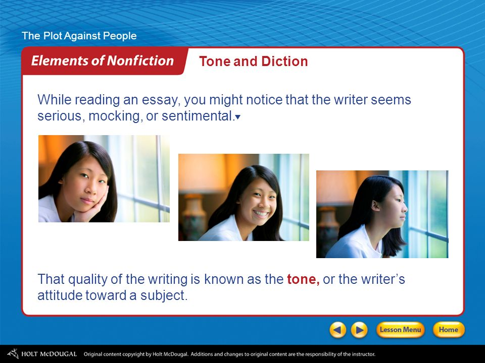 the plot against people ppt video online tone and diction while reading an essay you might notice that the writer seems serious