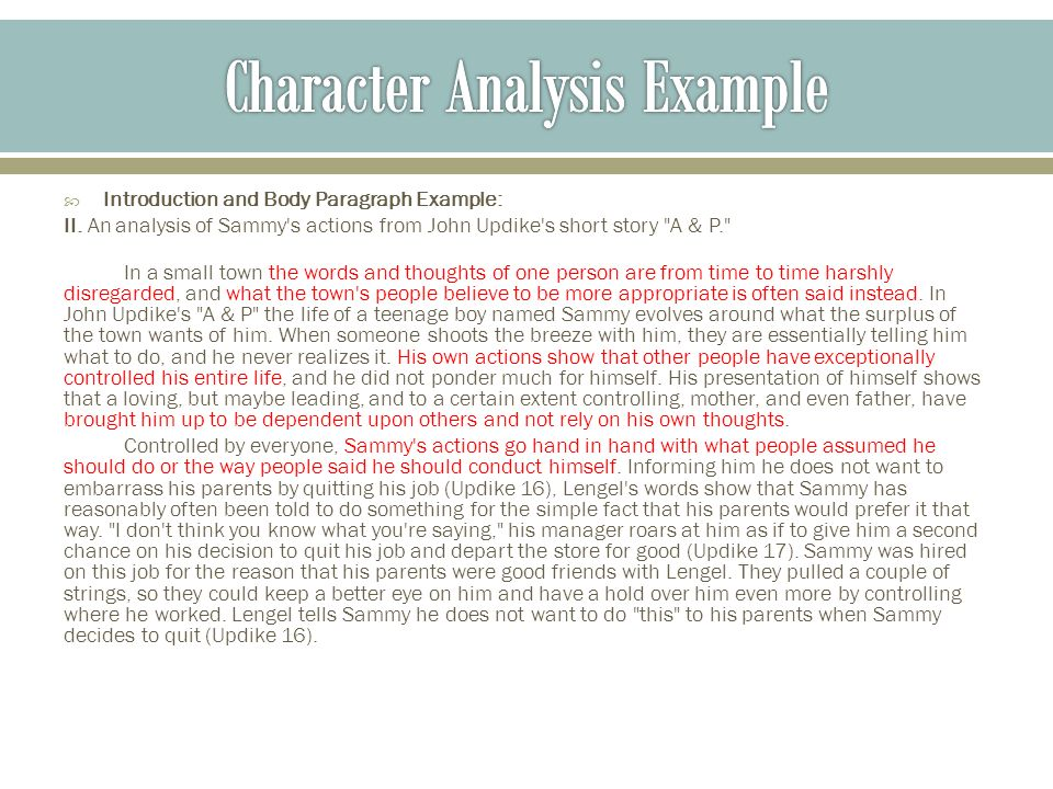 Notes On Character Analysis - Ppt Video Online Download