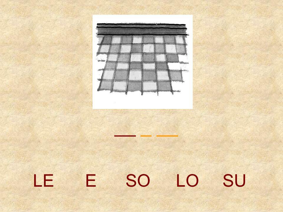__ _ __ LE E SO LO SU