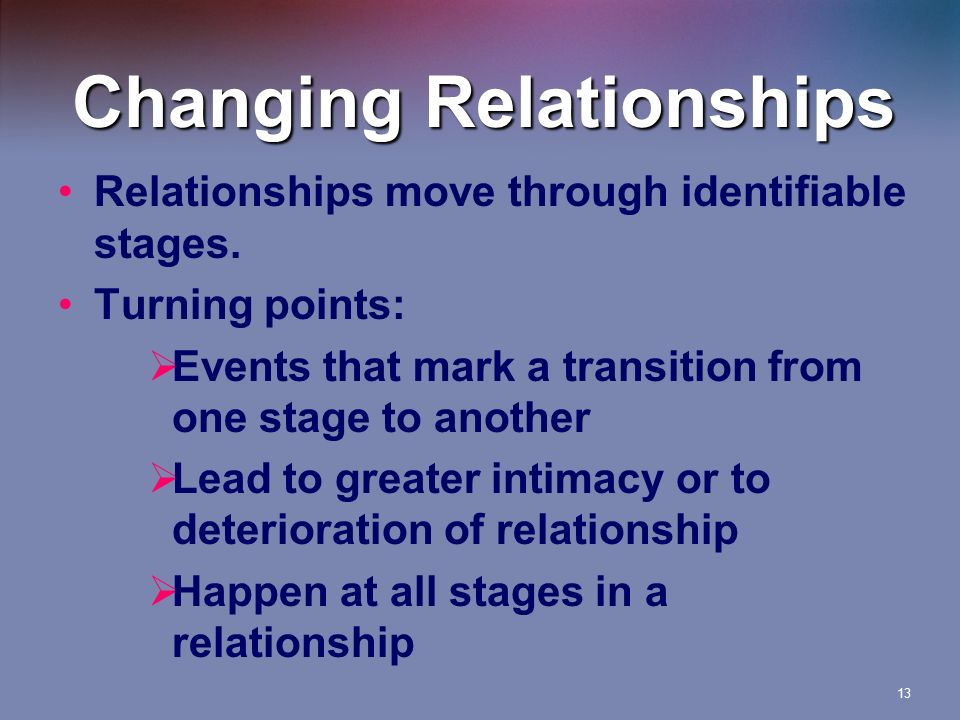 How to change from dating to relationship