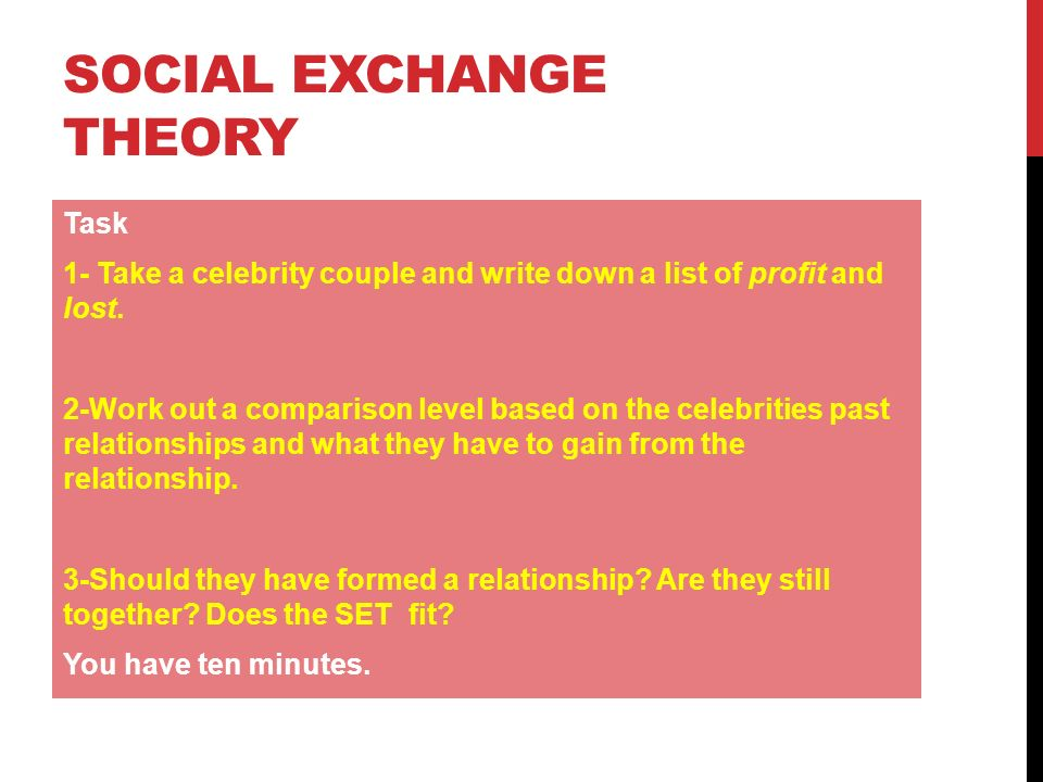 social exchange theory ppt video online  social exchange theory