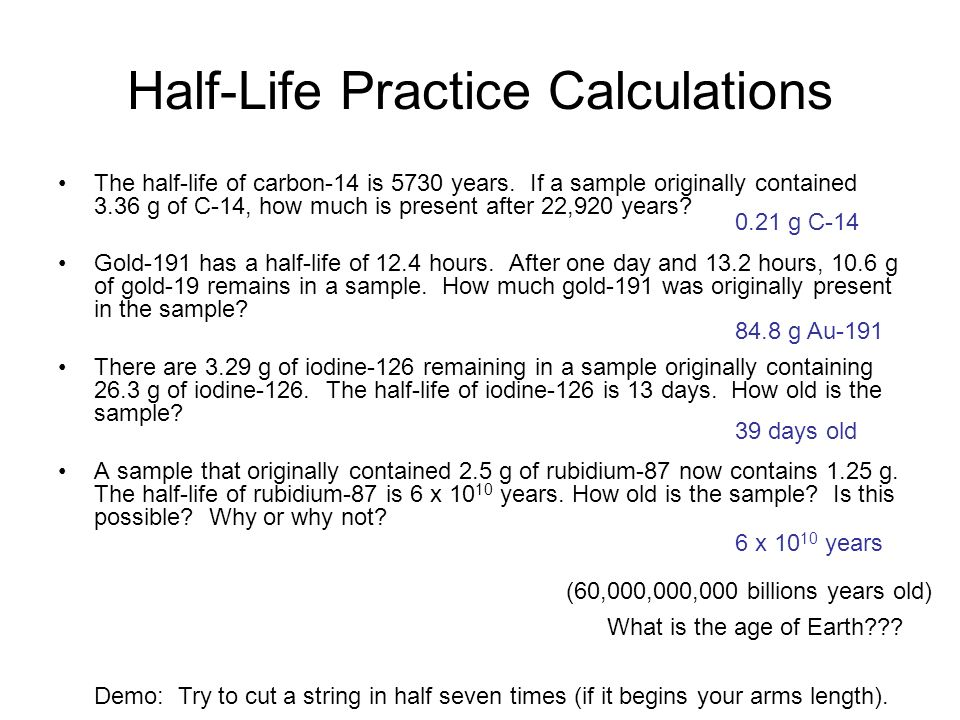 HalfLife ppt video online download – Half Life Worksheet