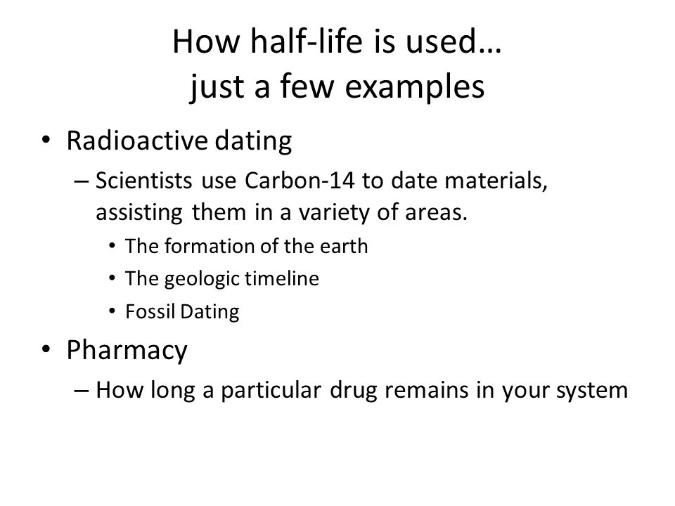 examples of radioactive carbon dating Archaeologists use the exponential, radioactive decay of carbon 14 to estimate the death dates of organic material the stable form of carbon is carbon 12 and the radioactive isotope carbon 14 decays over time into nitrogen 14 and other particles.