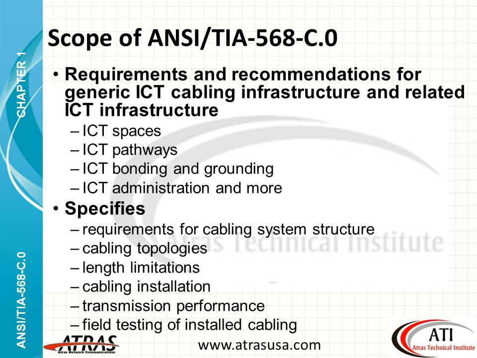 Scope+of+ANSI%2FTIA 568 C.0+Requirements+and+recommendations+for+generic+ICT+cabling+infrastructure+and+related+ICT+infrastructure. ansi tia 568 c generic telecommunications cabling approved Tia-568-C.2 Cat 6 at crackthecode.co