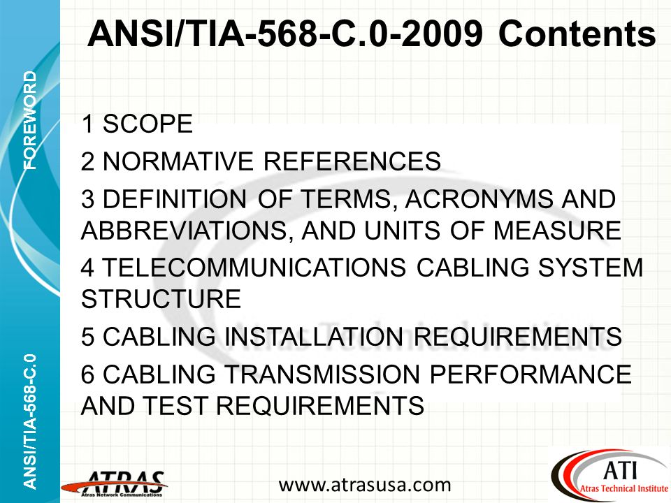ANSI%2FTIA 568 C.0 2009+Contents ansi tia 568 c generic telecommunications cabling approved Tia-568-C.2 Cat 6 at crackthecode.co