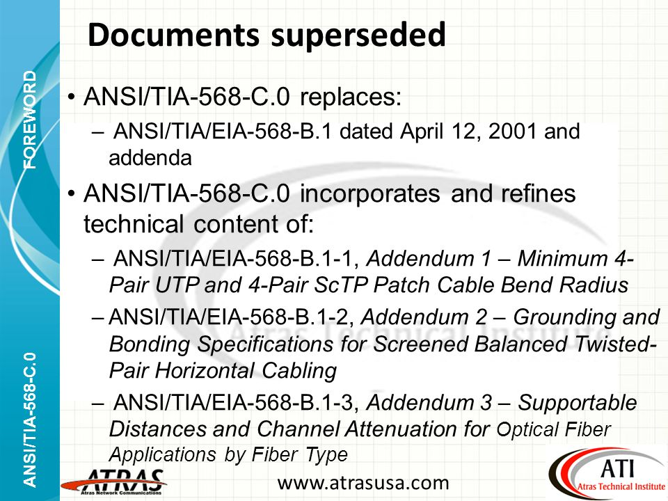 Ansi Tia 568 C Generic Telecommunications Cabling Approved