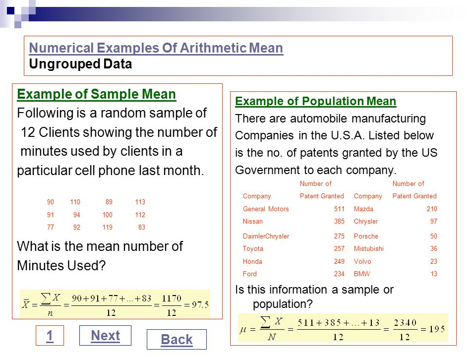 example of grouped and ungrouped data Statistics lab ungrouped frequency distribution objectives learn how to use excel's countif function learn how to summarize data by preparing a frequency distribution.