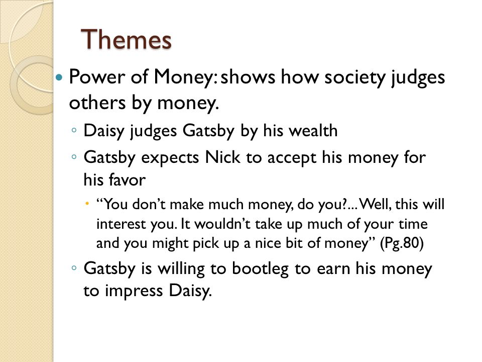 Materialism essay on the great gatsby