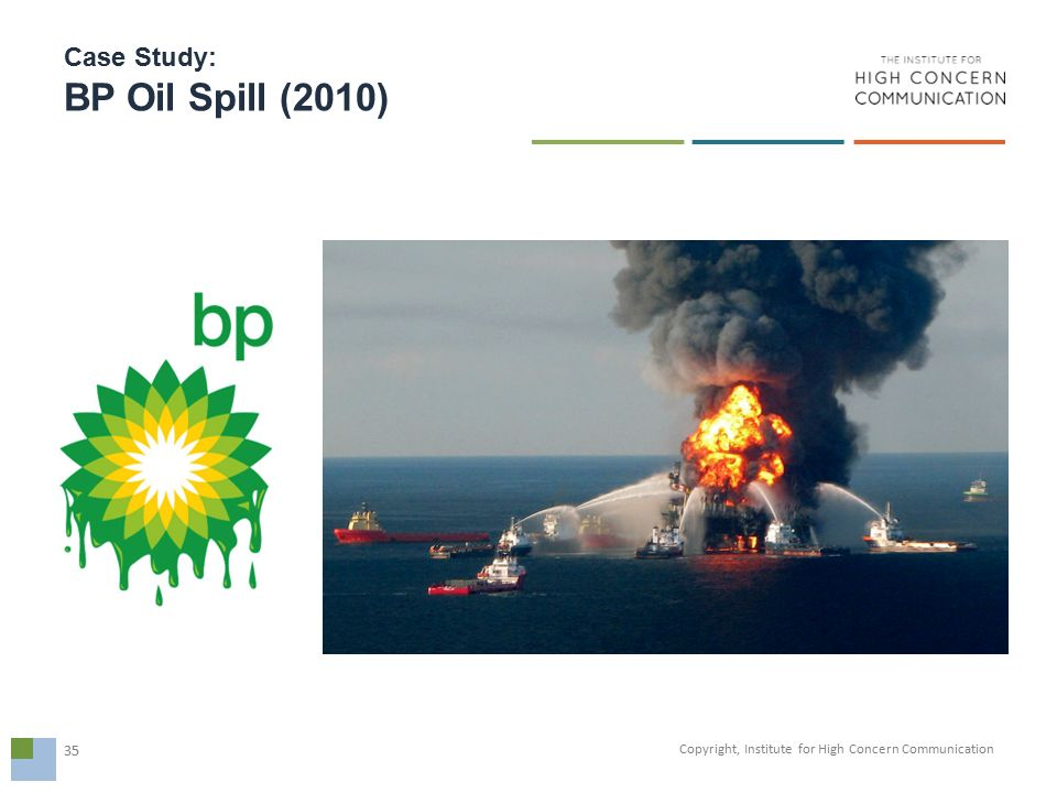 case study on bp oil spill Our case studies highlight some of bp's environmental and social initiatives from around the world responding to an oil spill in the north sea.