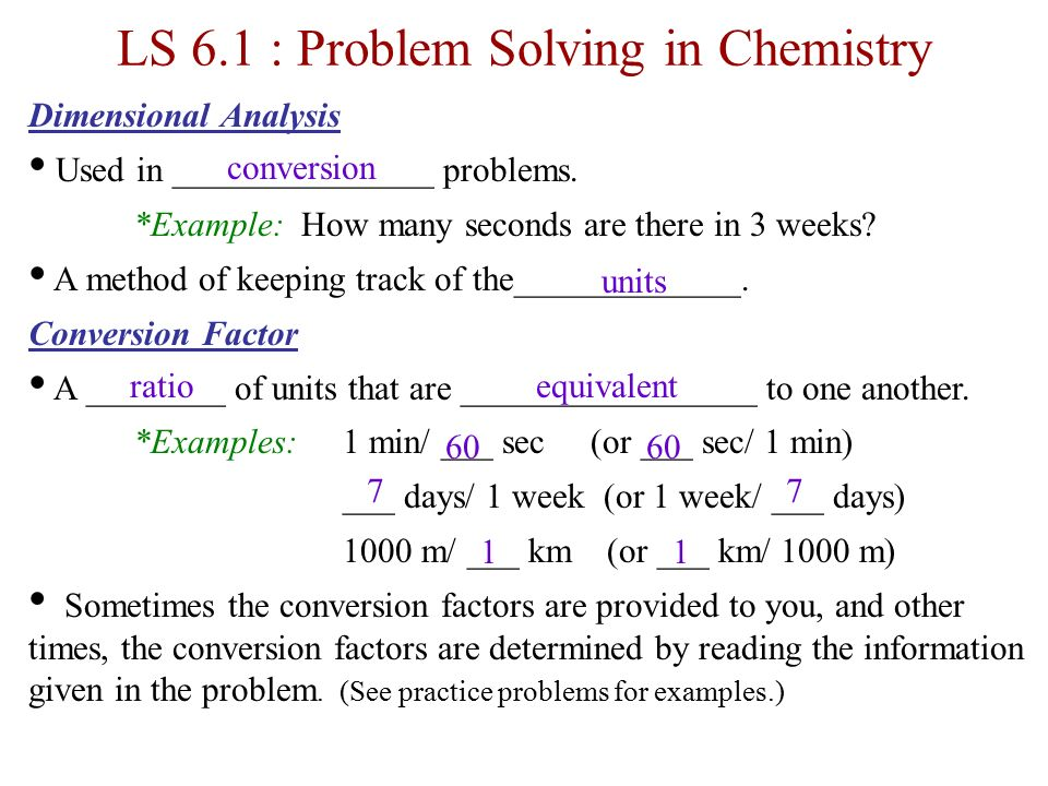 analysis and problem solving examples