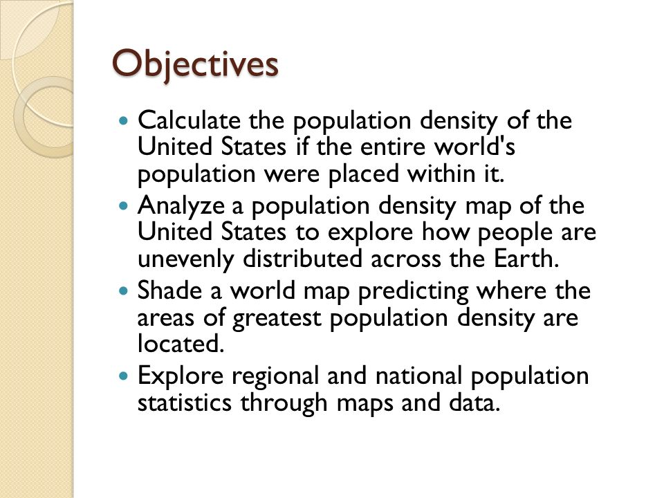Population density worksheet 6th grade