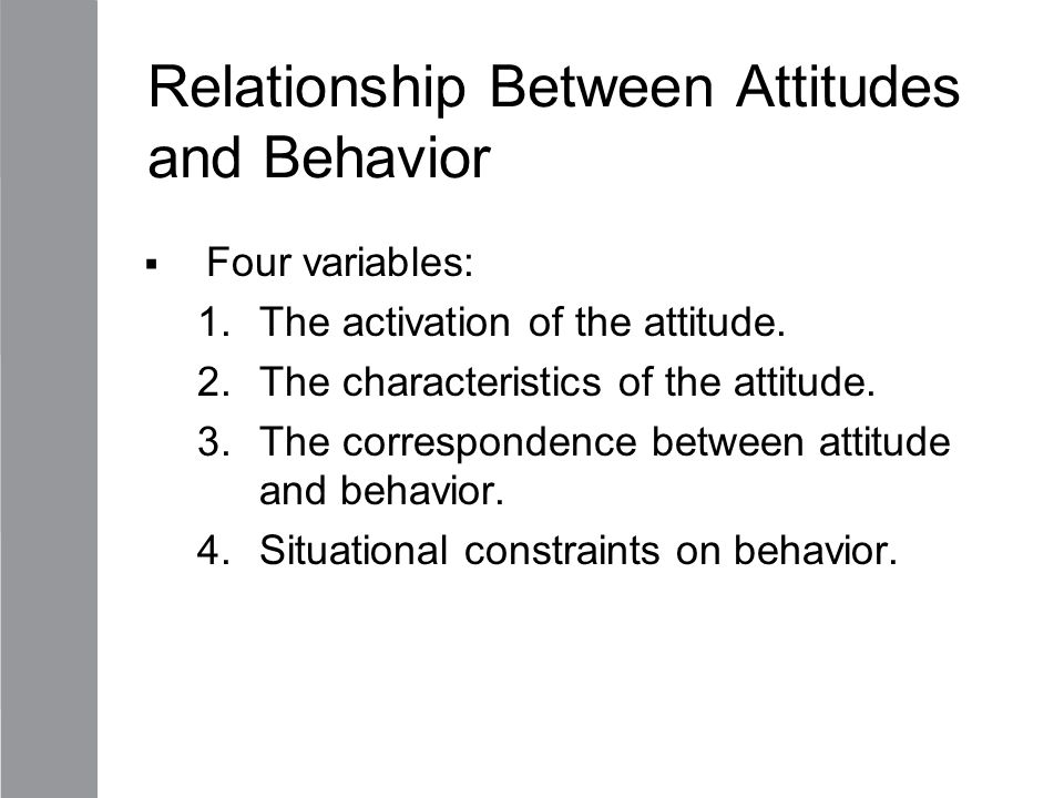 the relationship between consumersattitudes and behaviour