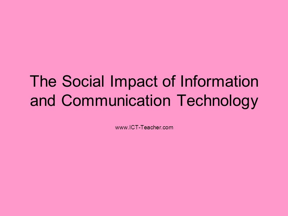 impact of information and communication technology Abstract the paper examines the contributions of the emerging technology and platforms such as the internet, teleprompter, gsm, social media, streaming among other on the media production and distribution particularlyread more.