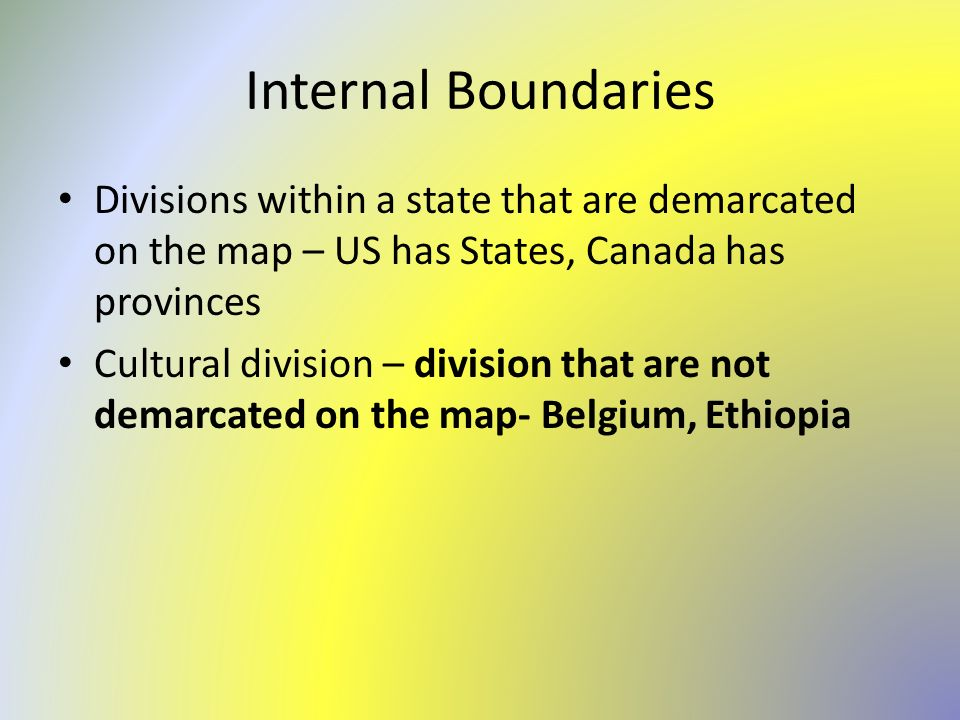 definitional boundary dispute example