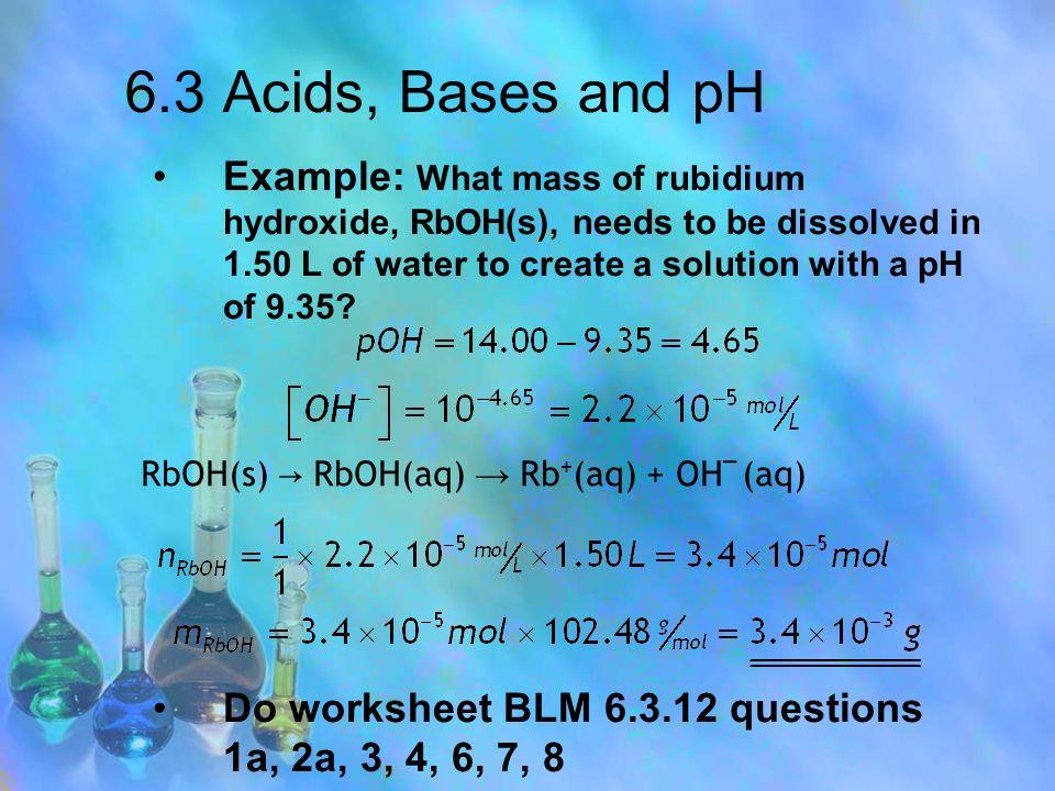chemistry 20 chapter 6 acids and bases ppt download. Black Bedroom Furniture Sets. Home Design Ideas
